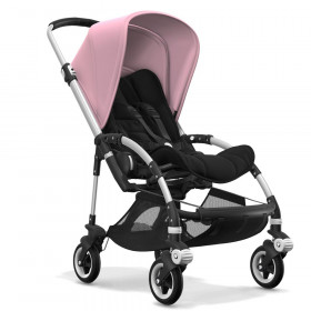 Bugaboo Bee5 alu chassis, schwarz/soft pink