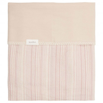 Babydecke Maui Flanell, 75x100cm, old pink/soft sand