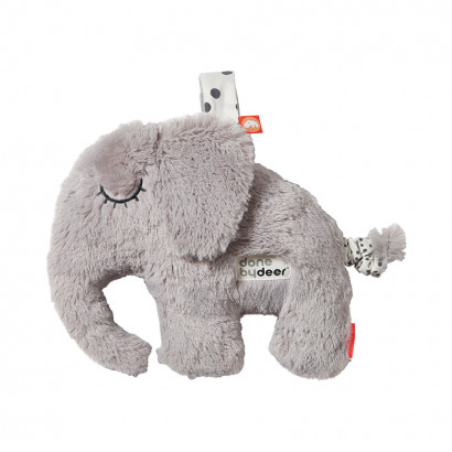 Spieluhr - musical cuddle toy Elphee, grey