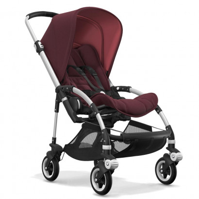 Bugaboo Bee5 alu chassis, rot meliert/rot meliert