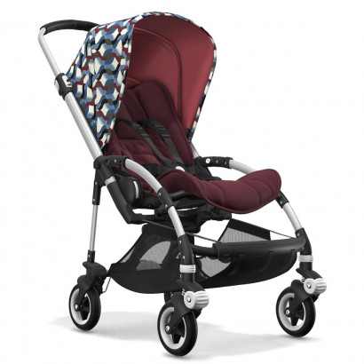 Bugaboo Bee5 alu chassis, rot meliert/waves
