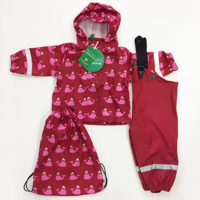 Freds World by Greencotton Rainsuit red