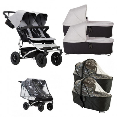 Mountain Buggy Duet silver, Bundle Twin