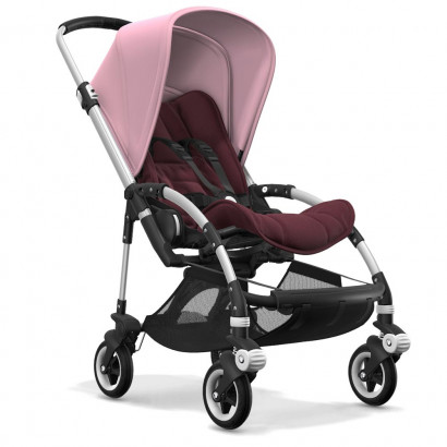 Bugaboo Bee5 alu chassis, rot meliert/soft pink