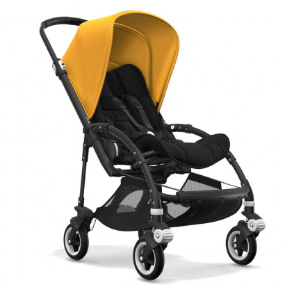 Bugaboo Bee5 black chassis, schwarz/gelb