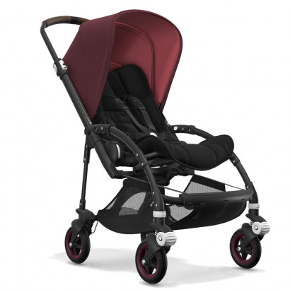 Bugaboo Bee5 black chassis, schwarz/Rot meliert