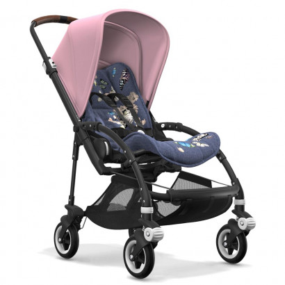 Bugaboo Bee5 black chassis, botanic/soft pink