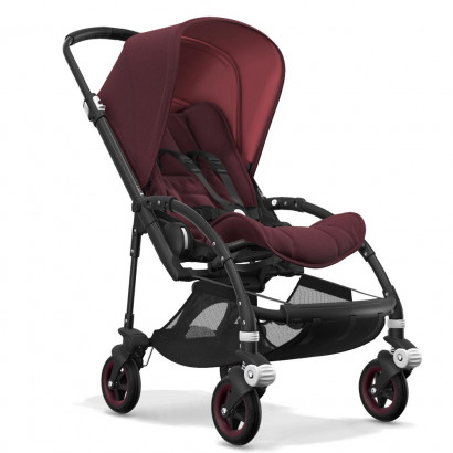 Bugaboo Bee5 black chassis, rot meliert/rot meliert