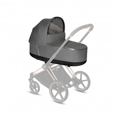 Priam LUX Carry Cot Manhattan Grey Plus