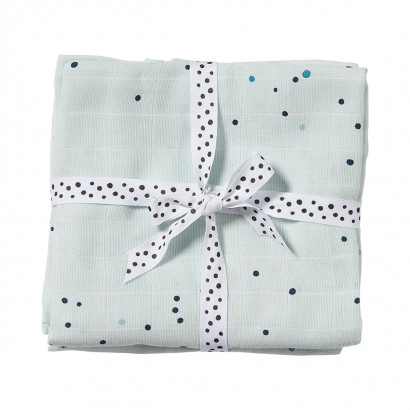 done by deer burp dreamy dots blue 70 x 70 cm (2er Set)