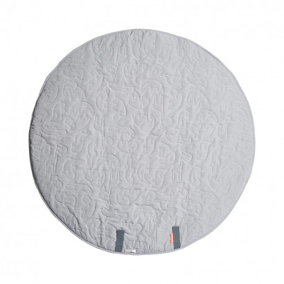 Round Play Mat, Sleepy Friends, grey