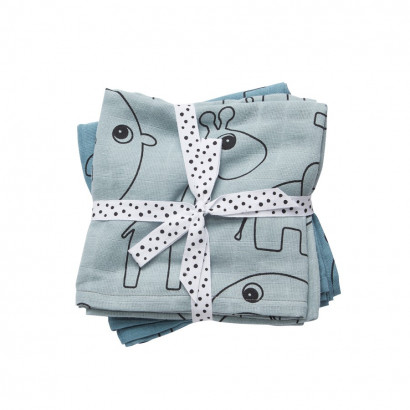 done by deer swaddle contour blue 120 x 120 cm (2er Set)