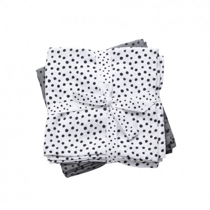 done by deer swaddle happy dots, 120 x 120 cm (2er Set)