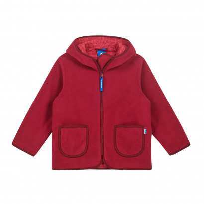 TONTTU, Zip-In Fleecejacke, persian red/cabernet, Gr. 120/130