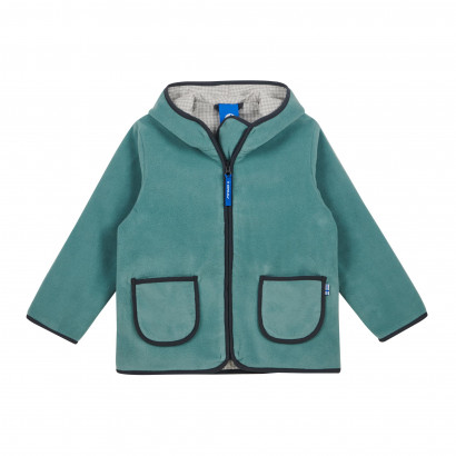 TONTTU, Zip-In Fleecejacke, trellis/graphit, Gr. 80/90