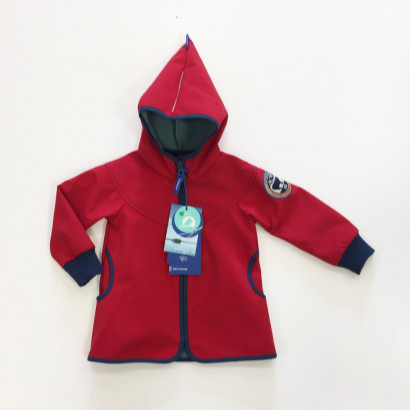 Finkid Jacke Simpukka Shell red/denim 110/120