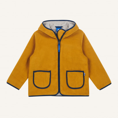 TONTTU, Zip-In Fleecejacke, harvest gold/denim, Gr. 80/90