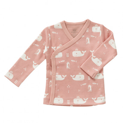 Fresk Wickelshirt rose, Wale, Gr. 0-3 Monate
