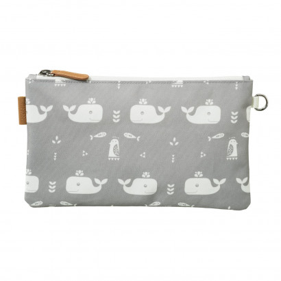 Geldbeutel, Wallet, small, Whale dawn grey