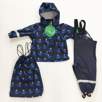 Freds World by Greencotton Rainsuit navy