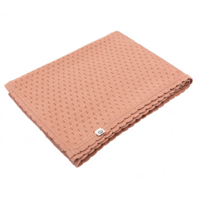 Müsli Strick-Decke, Knit blanket, Dream blush