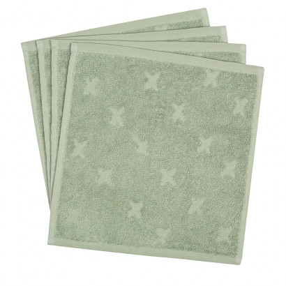 Müsli Waschlappen, Washcloth 4er Pack, Misty green
