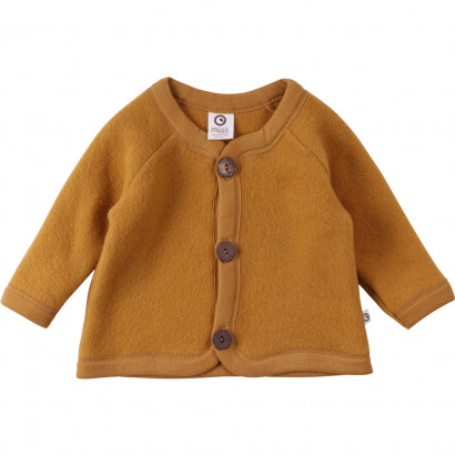 Woolly Fleece Jacket Baby, wood, Gr. 80/86