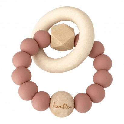 Beissring Hexa Baby Teether, Sunset, Mauve