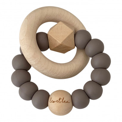 Beissring Hexa Baby Teether, Sunset, Taupe