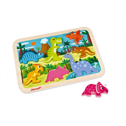 Janod Dinosaurier chunky Puzzle