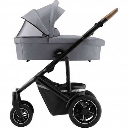 Britax Smile 3 Set Kinderwagen mit Wanne, frost grey/black/brown handle