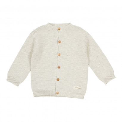 Baby Cardigan Gritty grain, cream