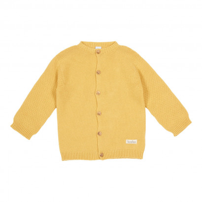 Baby Cardigan Gritty grain, corn yellow