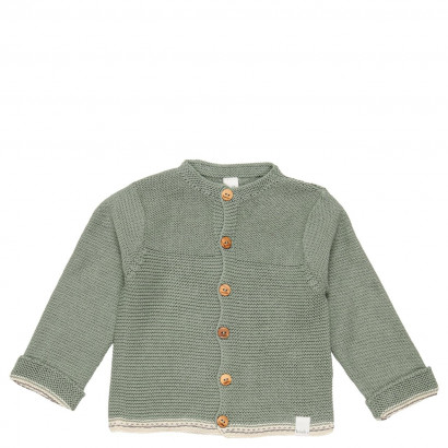 Baby Strickjacke Nanuk, shadow green Gr. 50/56