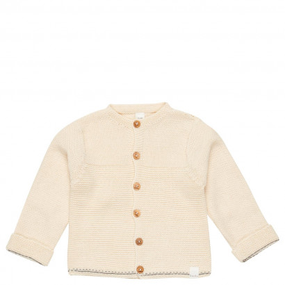 Baby Strickjacke Nanuk, warm white Gr. 62/68