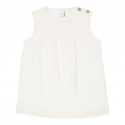 Baby Kleid Dancing Dobby, powder white