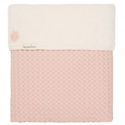 Koeka Babydecke Waffel/Teddy Oslo, shadow pink/light shadow pink