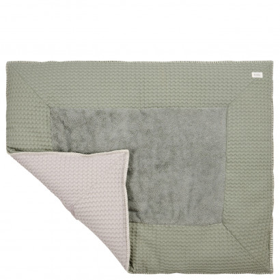 Koeka Krabbeldecke Waffel Amsterdam shadow green/misty grey