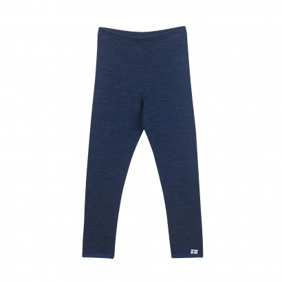 LEIKKI WOOL, Leggings aus Doubleface Wolljersey, navy/denim