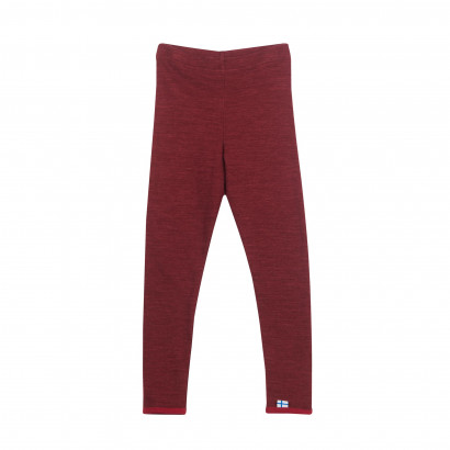 LEIKKI WOOL, Leggings aus Doubleface Wolljersey, cabernet/persian red