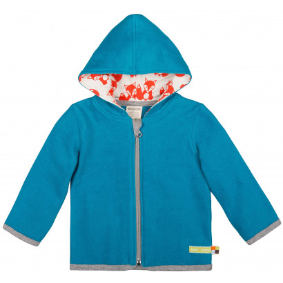 Loud+Proud Jacke Fleece, petrol, Gr. 74/80