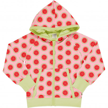 Cardigan Hood Sweat, Watermelon