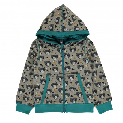Maxomorra Cardigan Hood grizzly bear