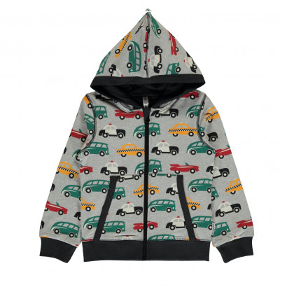 Maxomorra Cardigan Hood Traffic