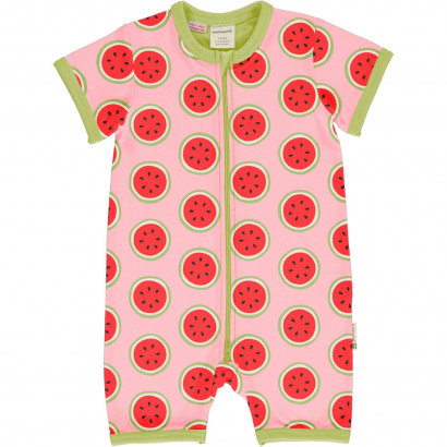 Kurzarmstrampler, Rompersuit Short Sleeve, Watermelon