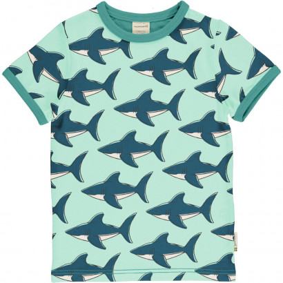 Kurzarmshirt, Top Short Sleeve, Shark