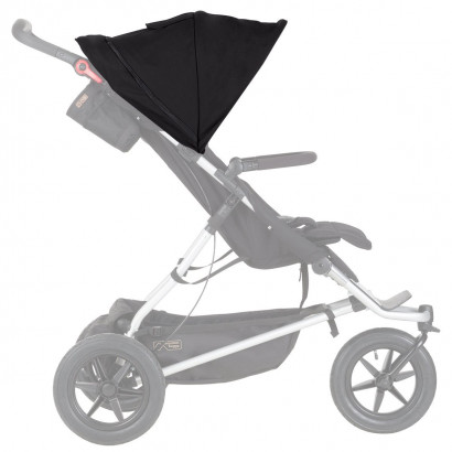 Mountain Buggy +one™ sunhood, schwarz