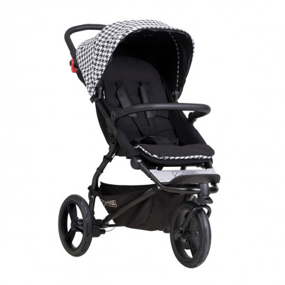 Mountain Buggy Swift, luxury collection, pepita - Aktion mit Trage Juno charcoal