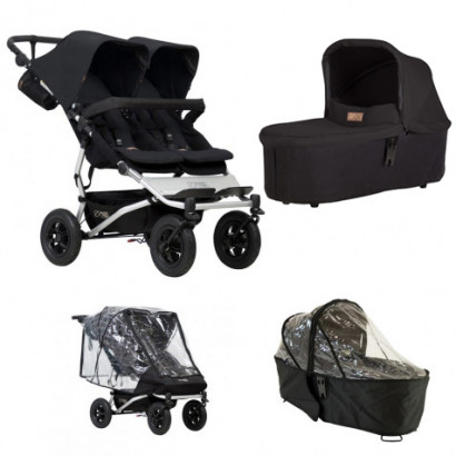 Mountain Buggy Duet schwarz, Bundle Duo