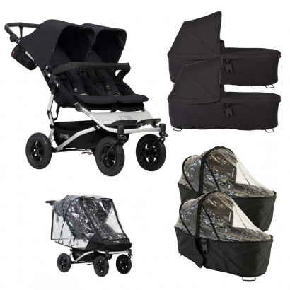 Mountain Buggy Duet schwarz, Bundle Twin